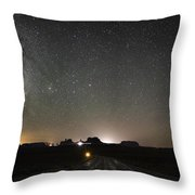 Route 163 To Monument Valley Throw Pillow