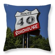 Route 40 Roadhouse Throw Pillow