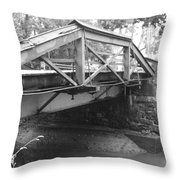 Route 532 Bridge Over The Delaware Canal - Washington's Crossing Throw Pillow