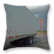 Route 66 - Dixie Truck Stop Throw Pillow