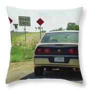 Route 66 - Illinois Throw Pillow