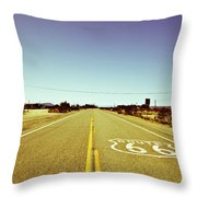 Route 66-73 Throw Pillow