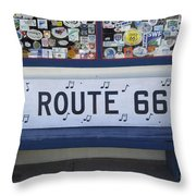 Route 66 Bench Throw Pillow