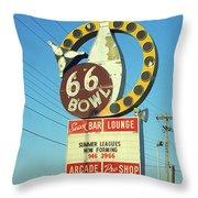 Route 66 Bowl Throw Pillow