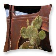 Route 66 Cactus Throw Pillow by Mike McGlothlen
