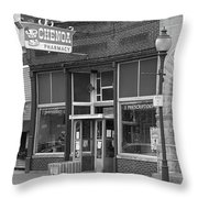 Route 66 - Chenoa Pharmacy Throw Pillow