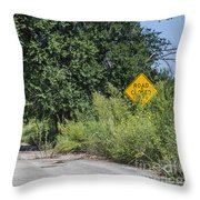 Route 66  End Of The Road Throw Pillow