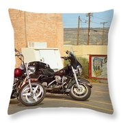 Route 66 - Grants New Mexico Motorcycles Throw Pillow
