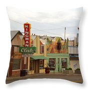Route 66 - Kingman Arizona Throw Pillow