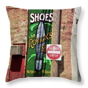 Route 66 Mural Throw Pillow