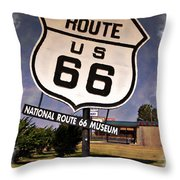 Route 66 Museum - Impressions Throw Pillow