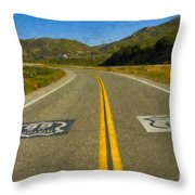 Route 66 National Historic Road Throw Pillow