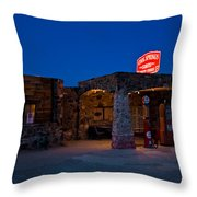Route 66 Outpost Arizona Throw Pillow