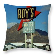 Route 66 - Roy's Of Amboy California 2 Throw Pillow