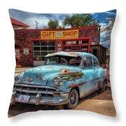 Route 66 Seligman Throw Pillow