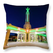 Route 66 Tower Conoco #2 Throw Pillow