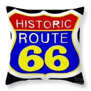 Route 66 Vintage Sign Throw Pillow