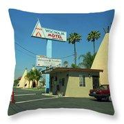 Route 66 - Wigwam Motel 3 Throw Pillow