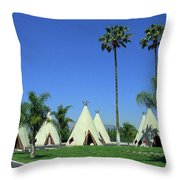Route 66 - Wigwam Motel 4 Throw Pillow