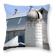 Route 81 Barn Throw Pillow