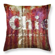 Route Of The Chief Throw Pillow by Lou Novick