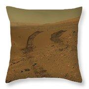 Roving Across Mars 2 - Mars Light Throw Pillow