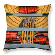 Row Boat Throw Pillow