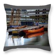 Row Boat Rental Throw Pillow
