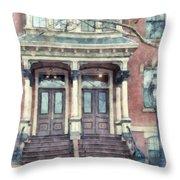 Row House Providence Rhode Island Throw Pillow
