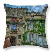 Row Houses Arles France_dsc5719_16_dsc5719_16 Throw Pillow