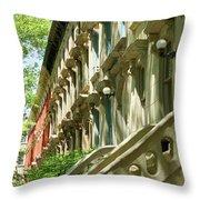 Row Houses In White Throw Pillow