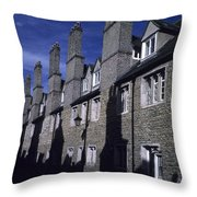 Row Houses Stand Huddled Together Throw Pillow