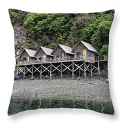 Row Of Camps Throw Pillow