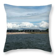 Row Of Clouds Throw Pillow