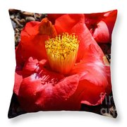 Row Of Flowers Throw Pillow