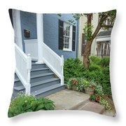 Row Of Historic Row Houses Throw Pillow