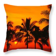 Row Of Palms Throw Pillow