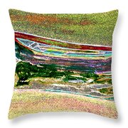 Rowboat Fluorescence 1 Throw Pillow