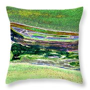 Rowboat Fluorescence 2 Throw Pillow