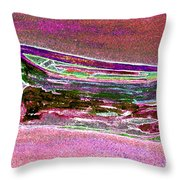 Rowboat Fluorescence 4 Throw Pillow