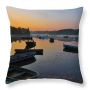 Rowboats At Rest Throw Pillow