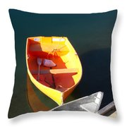 Rowboats In Rockport, Ma Throw Pillow