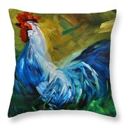 Rowdy Rooster Throw Pillow