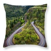 Rowena Crest Loops - Oregon Throw Pillow