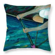 Rower Throw Pillow