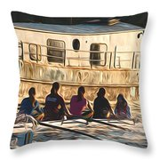 Rowers Throw Pillow