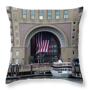 Rowes Warf Throw Pillow