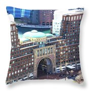Rowes Wharf Building Throw Pillow