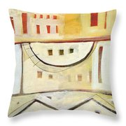 Rowhouse No. 1 Throw Pillow