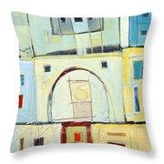 Rowhouse No. 3 Throw Pillow